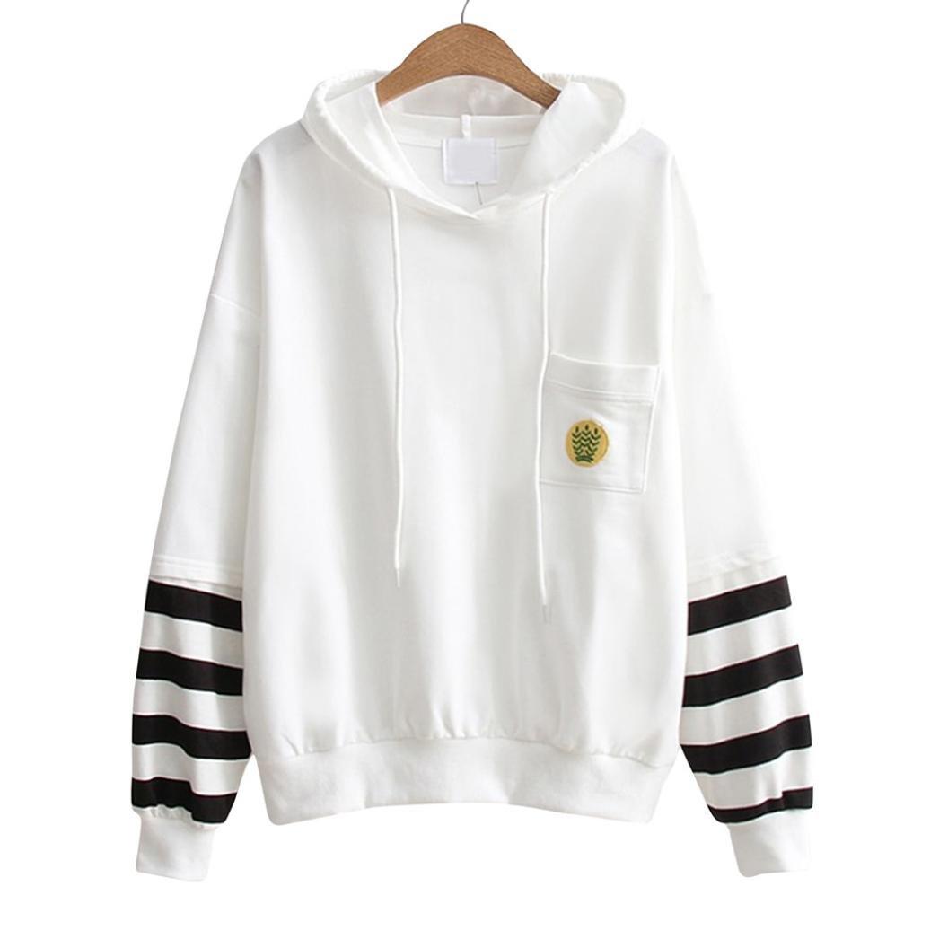 Women Hoodie Long Sleeve Letter Print Casual Sweatshirt Pullover Loose Jumper Tops (XL)