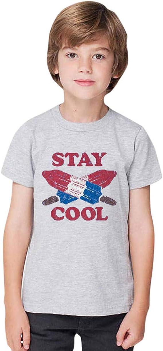 Bebé de Corta Camiseta | Summer Toddler Boys Girl Fashion Casual Manga Corta Estampado de Dibujos Animados Camiseta Tops 0-12 años: Amazon.es: Ropa y accesorios