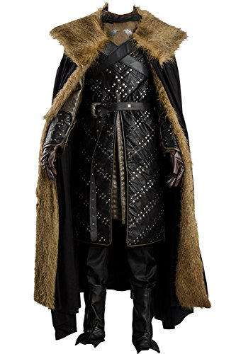 CosplaySky Game of Thrones Season 7 Jon Snow Armor Costume Outfit XX-Large