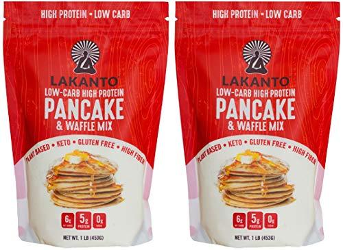 Lakanto Low Carb, 6 Net Carb, Gluten-free, Pancake Mix | Original 1 Pound Per Bag (Pack Of 2)