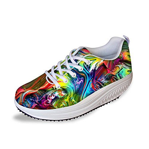 Multicolor HUGS Mesh Walking IDEA Sneakers Colorful HUGS IDEA 9 Womens ptwZqx