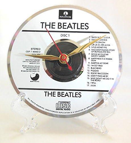 Records And Stuff The Beatles Cd Desktop Clock The Beatles White Album Sinom Aman8345