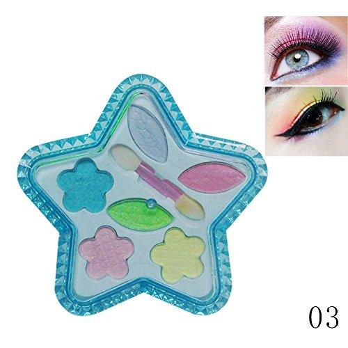 Gracefulvara 1 Set Children Colorful Glitter Eye Shadow Pale