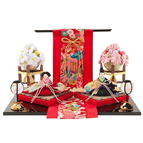 FUN fun Japanese Kimono Dolls Hina Ningyo Set Small Traditional Figurines Compact Hanakoji