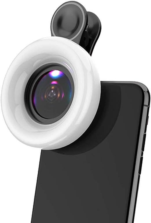 GASAMTINA Lente Macro para Smartphone 53 LED 2800-6500k 15x Macro ...