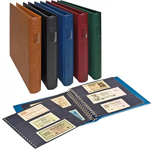 LINDNER Banknoten-Album (mit schwarzen Zwischenblättern) - GRÜN (2815-G)