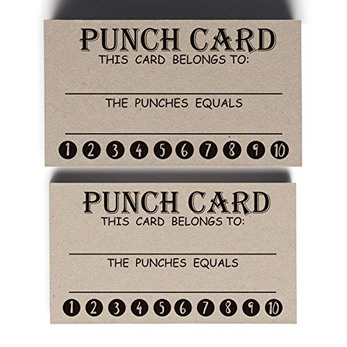 50 Rewards Punch Cards-Incentive Cards for Kids, Students, Teachers, Small Business, Classroom, Chores, Reading Incentive Awards for Teaching Reinforcement Loyalty Cards for Business Customers.