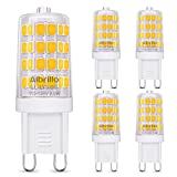 neat heat covers - Albrillo Dimmable G9 LED Bulb, 40W Halogen Bulb Equivalent LED Light Bulbs for Chandelier, Wall Sconce, Warm White 3000K, Bi Pin, 5 Pack