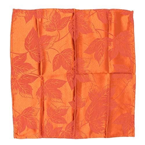ESG Warehouse Set of 4 Paprika Orange Harvest Season Fall Autumn Thanksgiving Napkins - Cascading Leaves ()