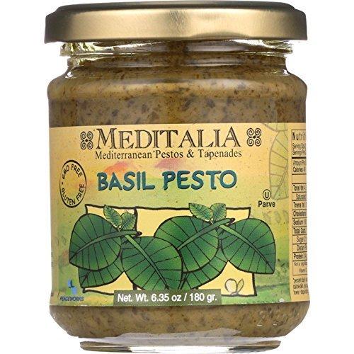 Meditalia Pesto - Basil - 6.35 oz - case of 6 - Gluten Free - Dairy Free - Wheat Free- by Meditalia ()