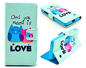For Motorola Moto G 2nd Generation Case, Welity Retro owl Love PU Leather Wallet Type Magnet Design Flip Case Cover Credit Card Holder Pouch Case for Motorola Moto G2/Moto G 2nd Generation (Moto G 2nd Gen 2014 Released) and one gift