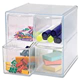 Sparco Storage Organizer, 4 Compartment, 6 x 7 1/4 x 6 Inches, Clear(SPR82977)