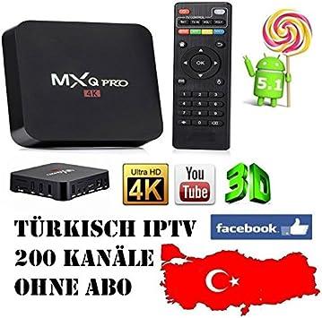 hasta 200 Turco IP TV Canales/MXQ Pro Google TV Box Android 5.1 Amlogic s905 Quad-Core 1 GB/8GB – sin suscripción – No Gastos – einmaliger Precio Vendido por compendus®: Amazon.es: Electrónica