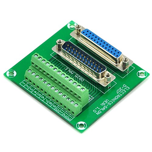 electronics-salon D-Sub DB25/ Male//Female Header Breakout Terminal block conector.