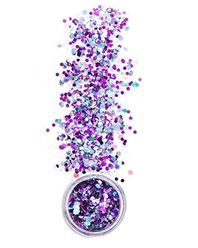iHeartRaves Chunky Tea Party Glitter for Festivals Beauty Makeup Face Body Hair Nails Raves