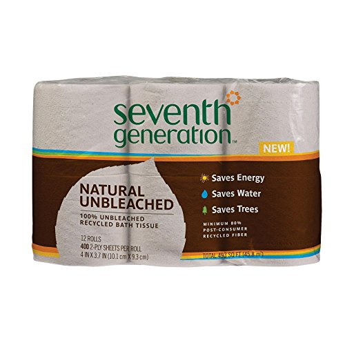 SEV13735 - Seventh Generation Recycled Unbleached Bathroom Tissue