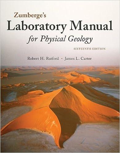 Laboratory Manual For Physical Geology Robert H Rutford