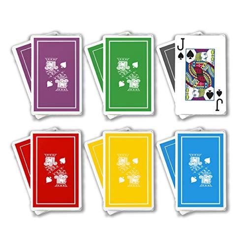 Linen Bridge - Barclay Playing Cards - Jumbo Print - 1 Dozen Decks - Bridge Sized - Plastic Coated