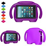 Fire 7 2017 Tablet Kids Case-TIRIN Smart Light Weight Shock Proof Handle Stand Protective Kids case for All New Fire 7 Tablet (7th Generation, 2017 Release), Purple