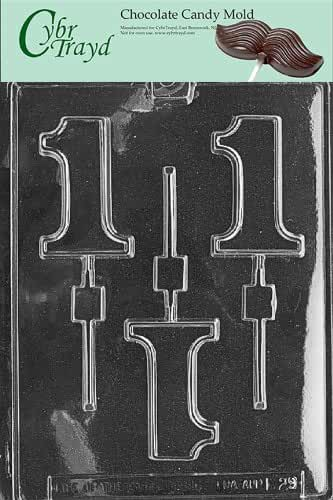 Cybrtrayd L029 1 Lolly Chocolate Candy Mold