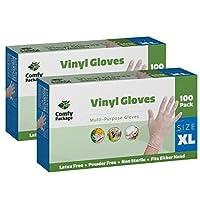 Clear Powder Free Vinyl Disposable Plastic Gloves