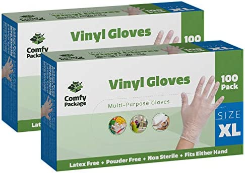 Clear Powder Disposable Plastic Gloves