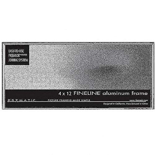 "Fineline Picture Frame Color: Silver, Size: 4"" x 12"" Frame/None Mat -  Framatic, F0412S"