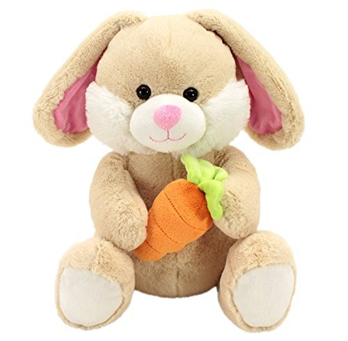 Soft and Cuddly Stuffed Betcha Bunny with Carrot - Ivory - Ivory Bunny