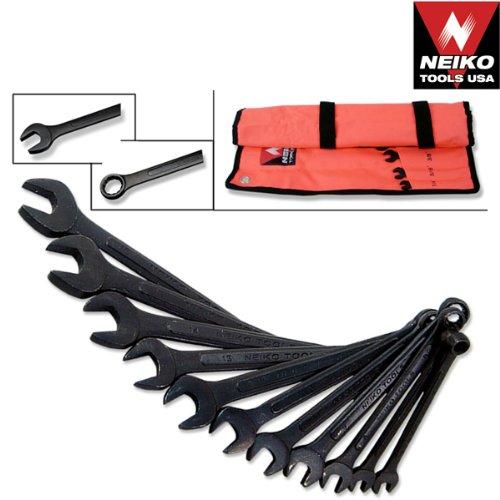 (Black Oxide Raised Panel Combo Wrench Sets 16pc SAE Set)