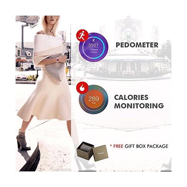 Viennois-Red-Swarovski-Crystal-Smart-Bracelet-Women-Health-Menstrual-Cycle-Tracker-Sports-Bracelet