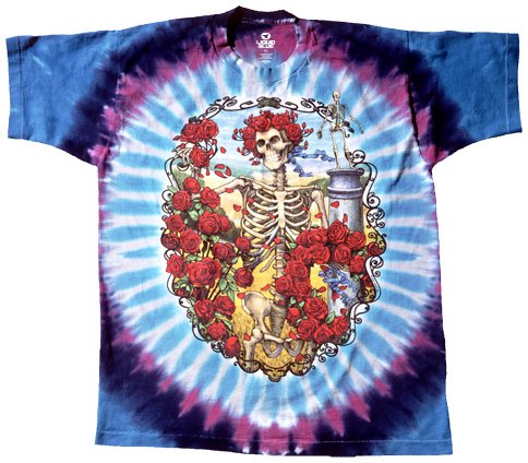 Liquid Blue Men's Grateful Dead 30Th Anniversary Short Sleeve T-Shirt,Multi,X-Large Tie Dye Merchandise