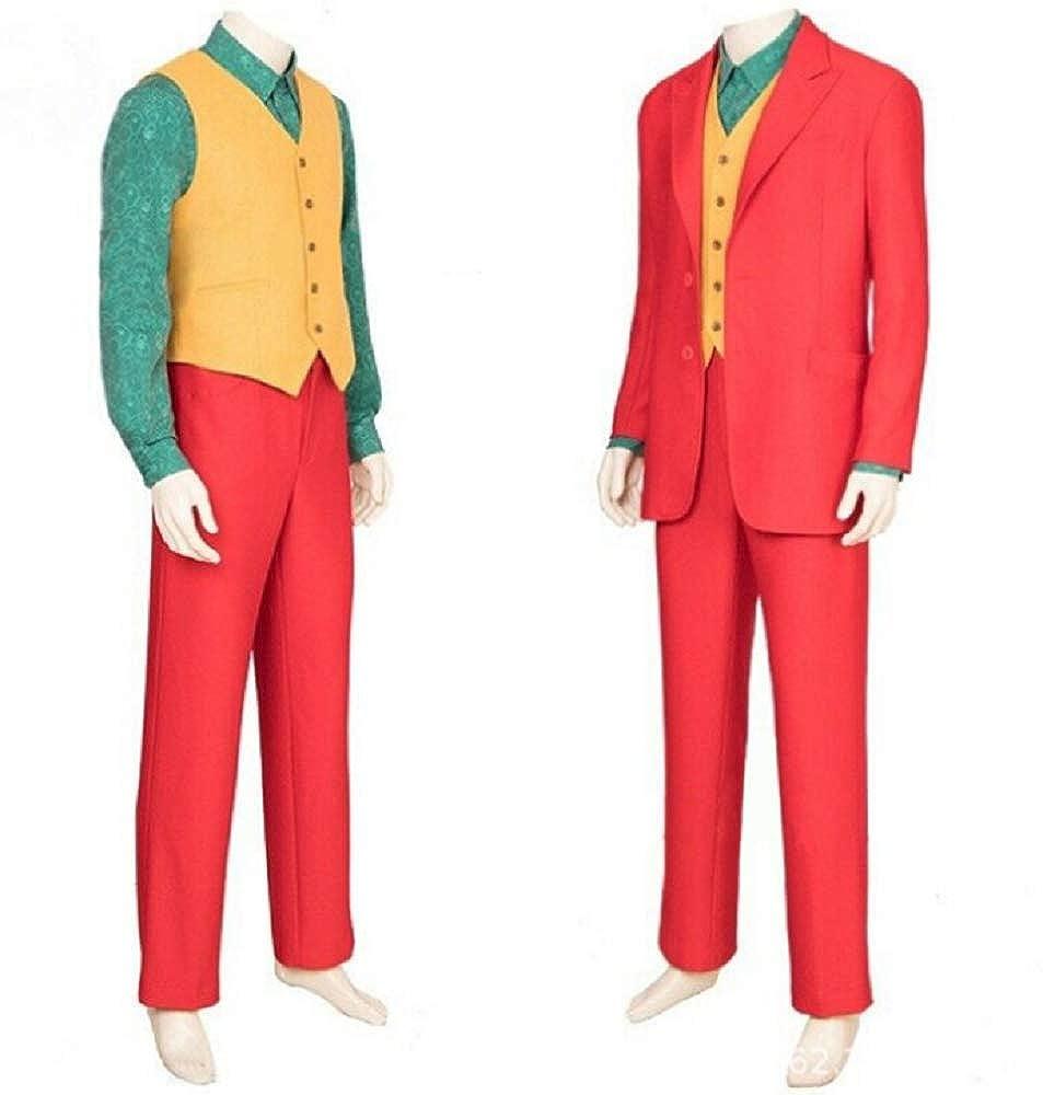 Amazon.com: Clown Cosplay Costume for Mens Joaquin Phoenix ...