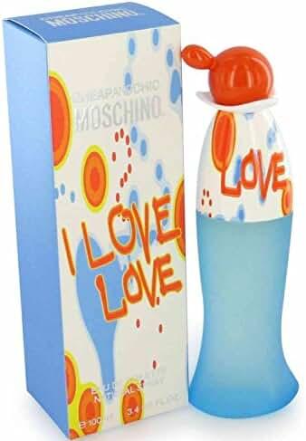 I LOVE I LOVE BY MOSCHINO 3.4 OZ 100 ML EAU DE TOILETTE FOR WOMAN
