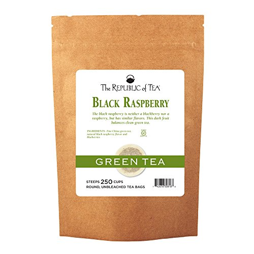 The Republic Of Tea, Black Raspberry Green Tea Bags, 250 Tea Bag Bulk