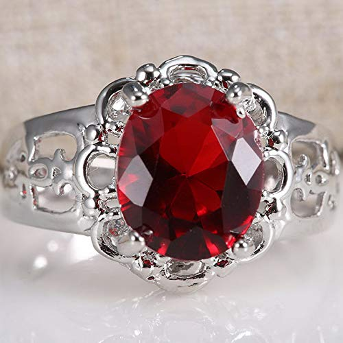 - Dokis 925 Silver White Topaz Men Ring Set Women Wedding Bridal Jewelry Size 6-10 | Model RNG - 17669 | 8