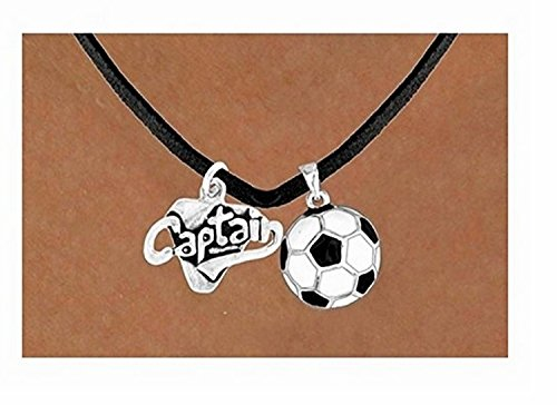 ''Captain'' & Soccer Ball Necklace by Lonestar Jewelry