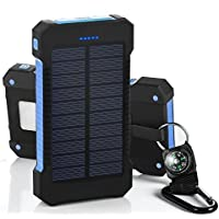 300000mAh Dual USB Portable Solar Battery Charger Solar Power Bank For Phone