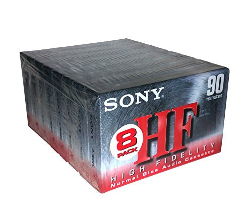 Sony HF 90 High Fidelity Normal Bias C-90HFC Audio Cassettes by Sony
