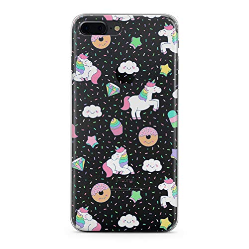 Lex Altern iPhone Apple TPU Case Xs Max Xr 10 X 8 Plus 7 6s 6 SE 5s 5 White Unicorn Cute Pink Clear Donuts Cover Silicone Durable Print Protective Girl Design Transparent Women Teen Flexible Pattern