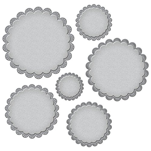 Spellbinders Nestabilities Fancy Scallop Edge Circles Etched/Wafer Thin Dies