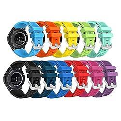 Samsung Gear S3 Frontier Classic Smart Watch Band,budesi 22mm Soft Replacement Sport Bracelet Strap For For Samsung Gear S3 Frontier S3 Classic Moto 360 2 2nd Gen Man(46mm)
