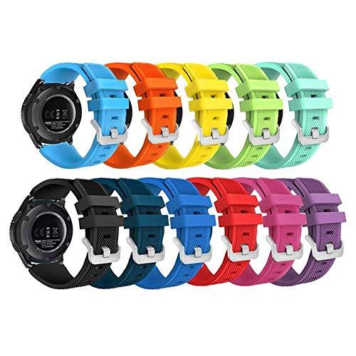 Samsung Gear S3 Frontier/ Classic Smart Watch Band,Budesi 22mm Soft Replacement Sport Bracelet Strap for for Samsung Gear S3 Frontier / S3 Classic /Moto 360 2 2nd Gen Man(46mm) by Budesi