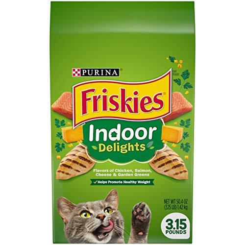 Purina Friskies Indoor Dry Cat Food, Indoor Delights  - (4) 3.15 lb. Bags