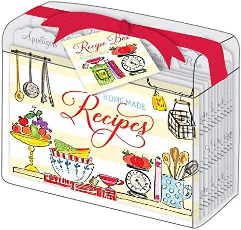 RosanneBeck Collections Kitchen Pantry - Caja de Recetas acrílica Transparente con 10 separadores de Recetas y 20 Tarjetas de Recetas: Amazon.es: Hogar