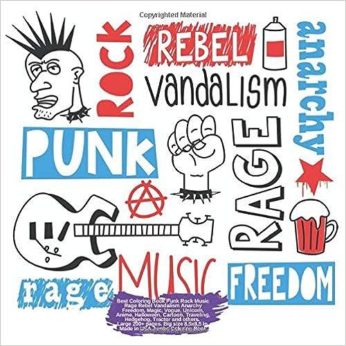 Best Coloring Book Punk Rock Music Rage Rebel Vandalism ...
