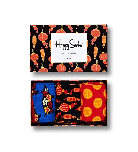 Happy Socks - Gemischt farbenfrohe Geschenkbox an Baumwollsocken f™r M_nner und Frauen, Chinese New Year, 36-40