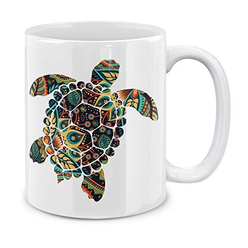 MUGBREW Paisley Pattern Turtle Ceramic Coffee Gift Mug Tea Cup, 11 ()