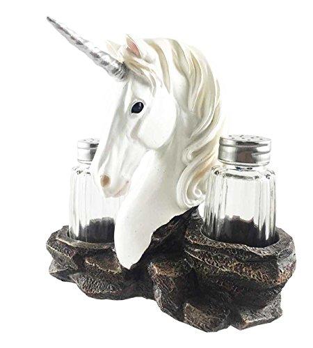Fantasy Magical Spices Rare Unicorn Fairy Tale Salt Pepper Shaker Holder Figurine Fantasia Salt