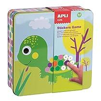 Ahorra en APLI Kids - Caja metálica con juego de gomets preescolar Animales y más