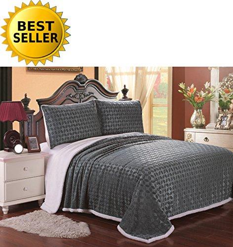 Elegant Comfort Luxury Blanket Micro Sherpa